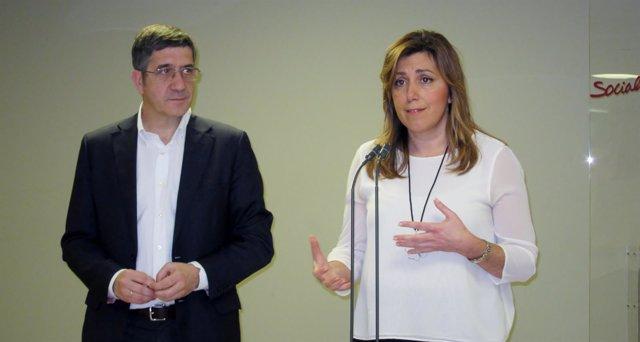 Patxi López y Susana Díaz en San Sebastián
