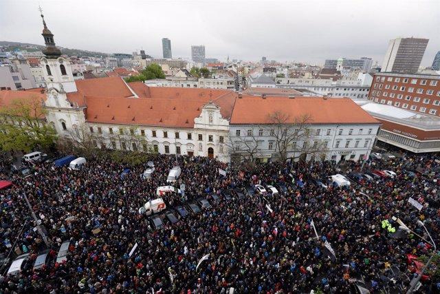 Manifestación contra la corrupción en Bratislava