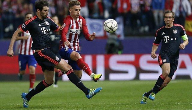 Griezmann y Javi Martínez en el Atlético Madrid - Bayern Munich