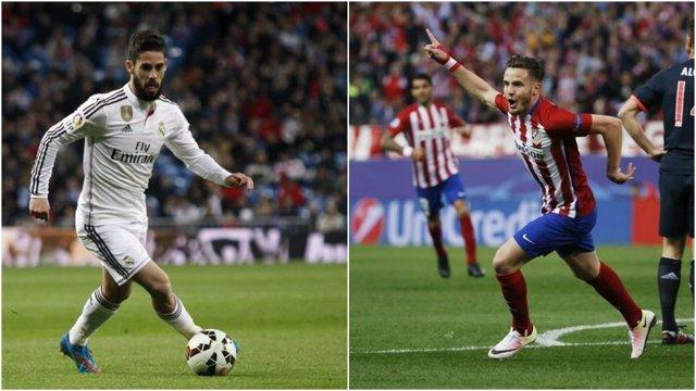 Isco y Saúl con el Real Madrid y Atlético