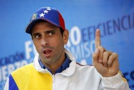 """Capriles cree que el Gobierno de Maduro está """"en fase terminal"""" y que acabará convocando elecciones"""