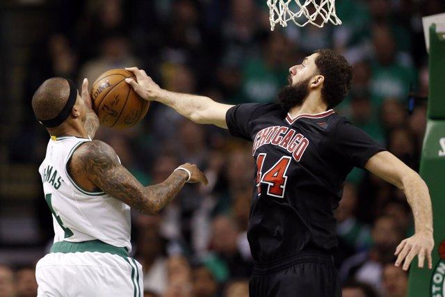 Nikola Mirotic en el Boston Celtics - Chicago Bulls