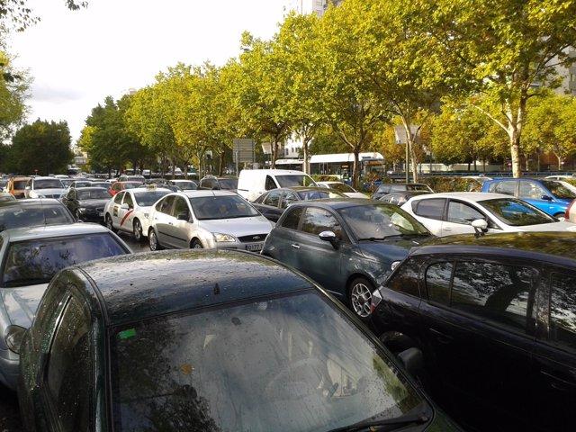 Atasco, coches