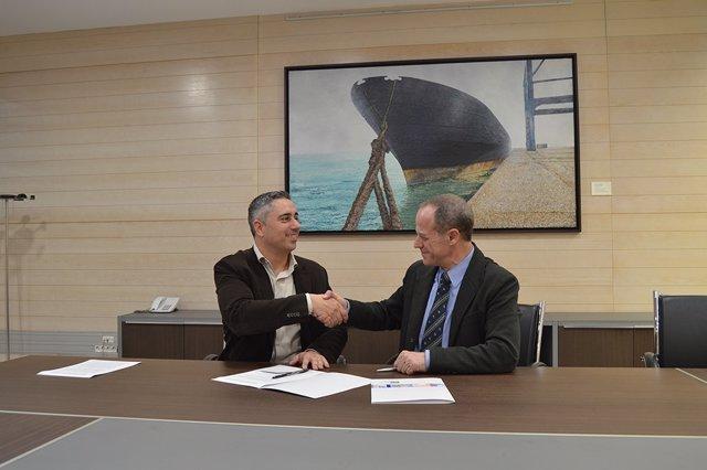 J.BELLMUNT (dtor.Imim) i M.Martínez (fundador de Zenmness)