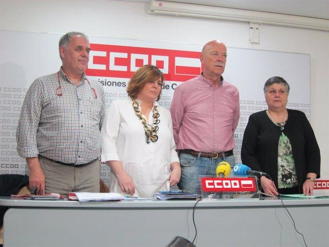 Representantes CCOO, UGT y SIEP