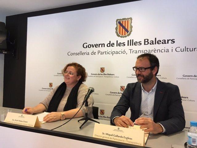Miquel Gallardo y Ruth Mateu antes de la remodelación del Govern