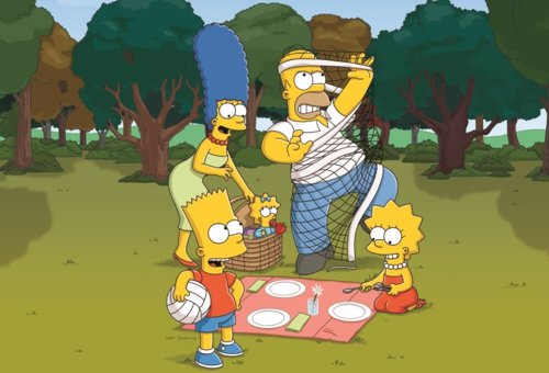 THE SIMPSONS: (L-R) Marge, Bart, Maggie, Homer and Lisa return for the 22nd seas