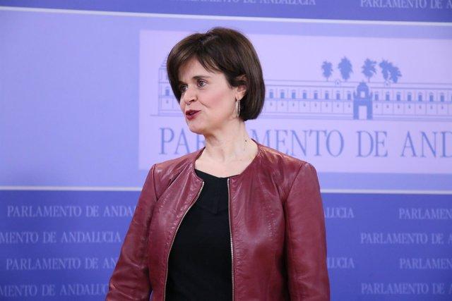 La coordinadora del grupo parlamentario de Podemos Andalucía, Esperanza Gómez