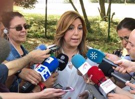 """Susana Díaz advierte de que la Junta """"llegará hasta donde haga falta"""" para defender los derechos de parados andaluces"""