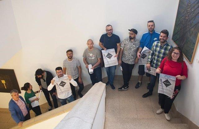 Artistas que participan en 'Muro crítico' en Cáceres