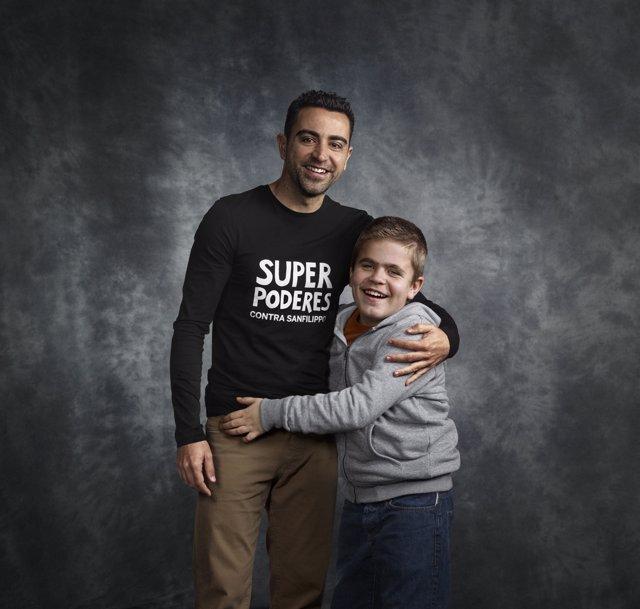 Xavi junto a Pol, aquejado del síndrome de San Filippo C