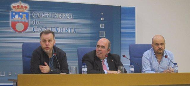 Antonio Lucio, Jesús Oria y Ángel Serdio