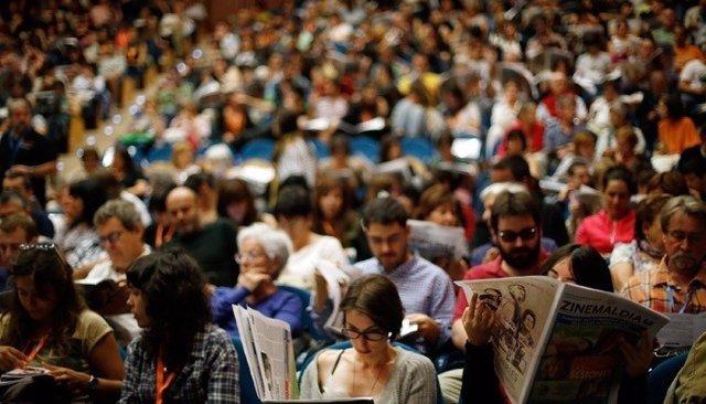 Espectadores del Festival de Cine de San Sebastián