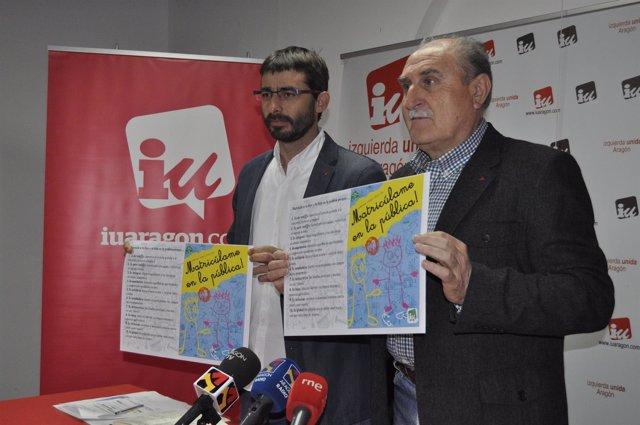 Alvaro Sanz y Félix Rubio (IU Aragón).