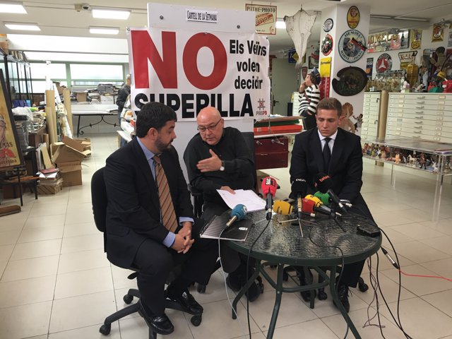 Daniel Vosseler, Jordi Campins i Xavier Peguero