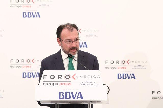 El canciller mexicano Luis Videgaray en el Foro América