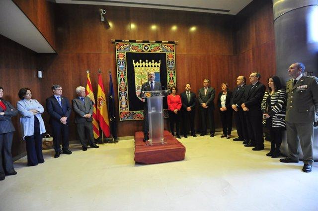 El presidente de Aragón, Javier Lambán, en el Día de Aragón en Teruel.