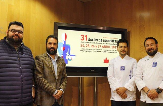 Presentación de Sabor a Málaga en el salón de Gourmet de Madrid