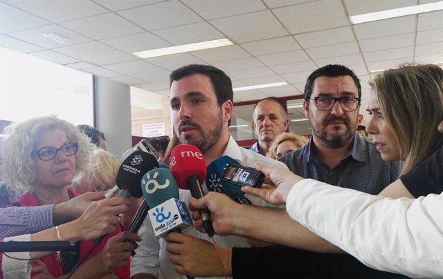 El coordinador general de IU, Alberto Garzón.