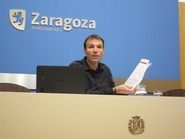 El consejero municipal de Urbanismo de Zaragoza Pablo Muñoz.
