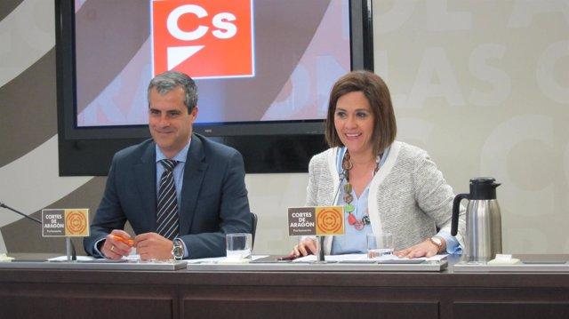 Susana Gaspar y Javier Martínez (Cs)