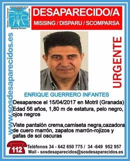 Desaparecido un hombre de 56 años en Motril