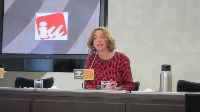 La diputada de IU Aragón, Patricia Luquin.