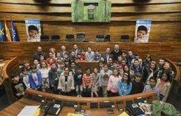 Escolares en la Junta General
