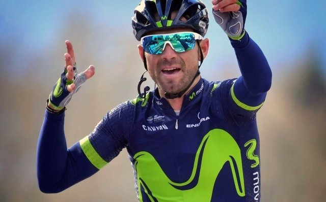 Alejandro Valverde celebra su triunfo