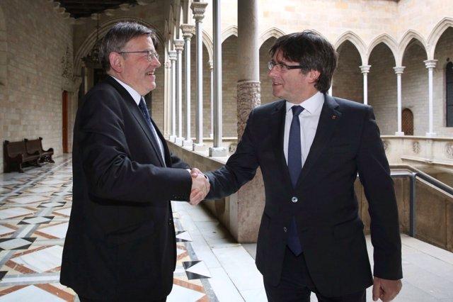 Puig y Puigdemont este miércoles en Barcelona