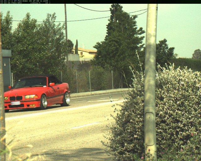 El coche denunciado por la Policía Municipal de Sabadell a 124 km/h