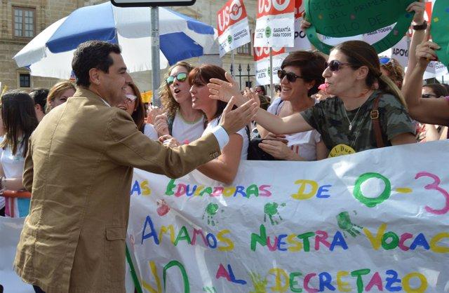 Nota De Prensa Y Foto Pp Andaluz Juanma Moreno Sobre El Decreto De Escuelas Infa