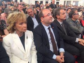 """Miquel Iceta pide seguir el ejemplo de Chacón por la igualdad y """"el entendimiento"""" entre españoles"""