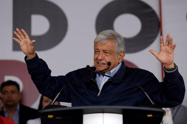 El líder de Morena, Andrés Manuel López Obrador