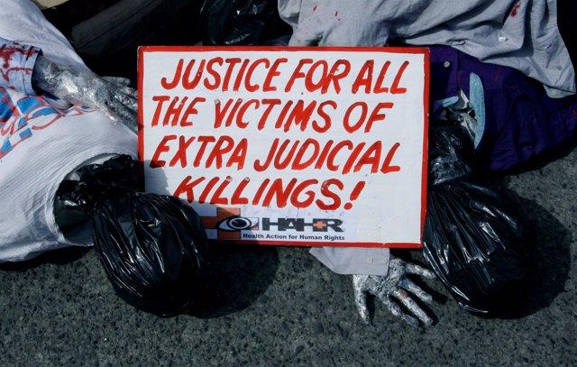 Protesta contra la 'guerra de las drogas' de Rodrigo Duterte