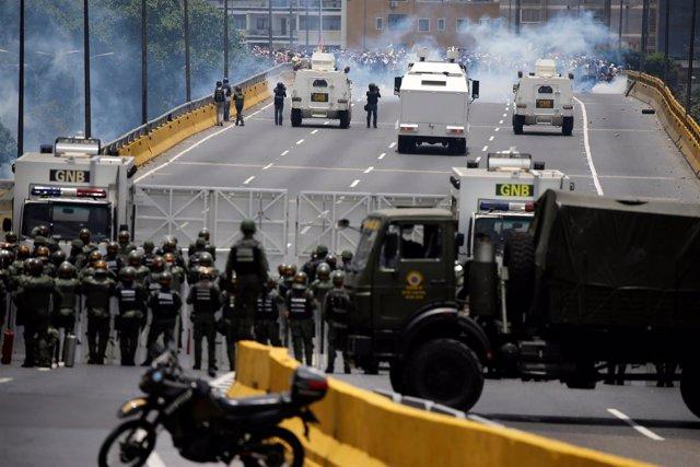 Guardia Nacional en las manifestaciones de Venezuela