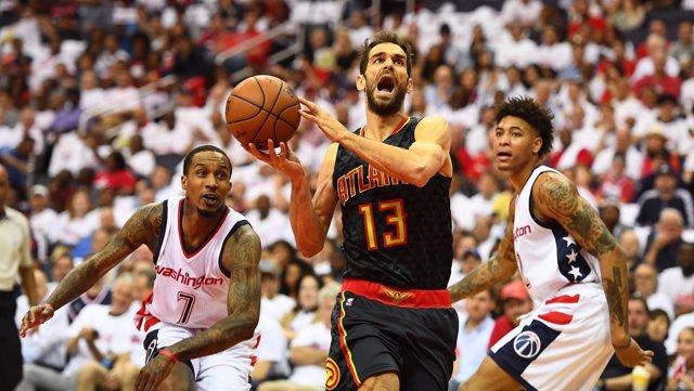 José Calderón en el Washington Wizards - Atlanta Hawks