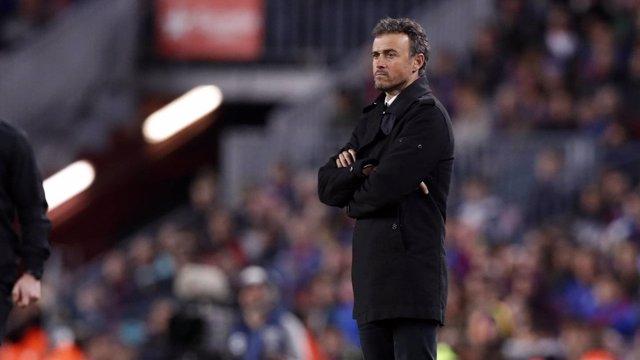 L'entrenador del FC Barcelona, Luis Enrique Martínez