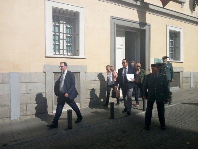 El juez Eloy Veslasco en la Consejería de Presidencia de la Comunidad de Madrid