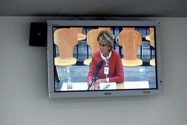 Declaració d'Esperanza Aguirre a l'Audiència Nacional per Gürtel