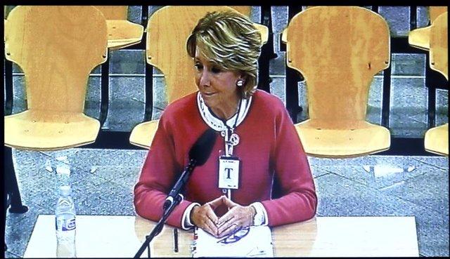 Declaración de Esperanza Aguirre en la Audiencia Nacional por Gürtel
