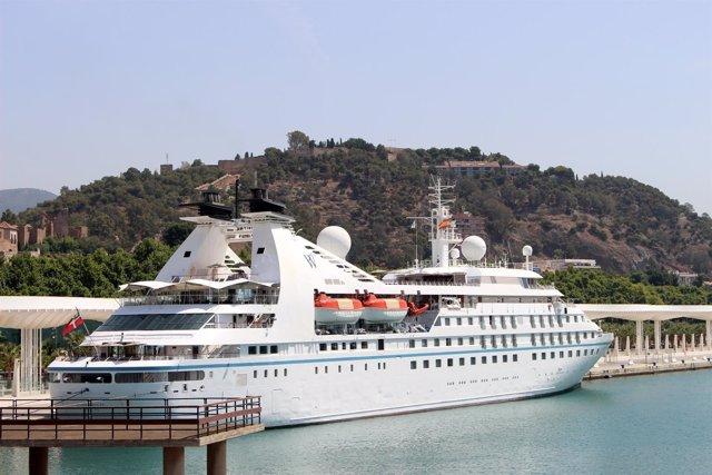Star breeze crucero de lujo windstar turismo barco málaga puerto palmeral