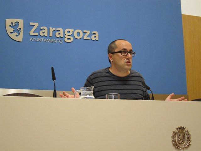 El consejero Alberto Cubero, en rueda de prensa en el Ayuntamiento