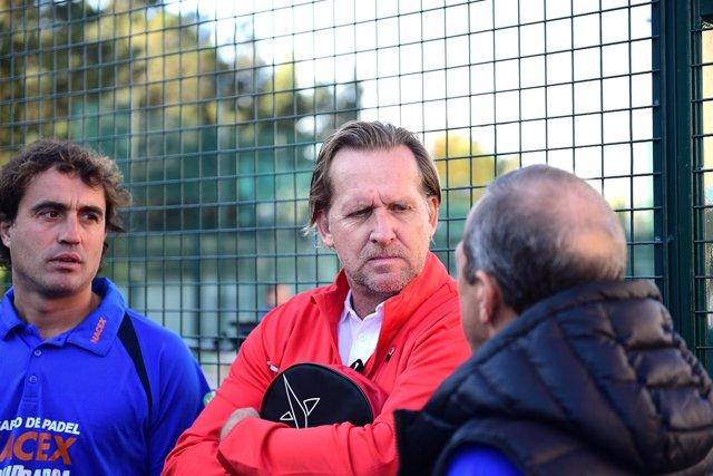 Torneo de Padel , la Moraleja. Bernd Schuster