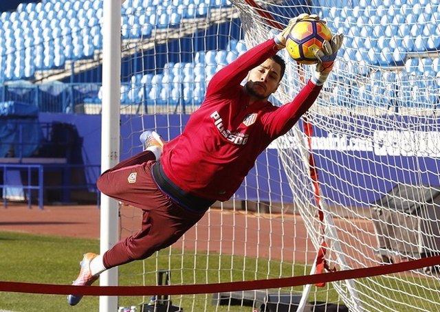 Bernabé Barragán, portero del Atlético de Madrid