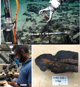 Muestras de telurio obtenidas por el IGME en los montes submarinos de Canarias