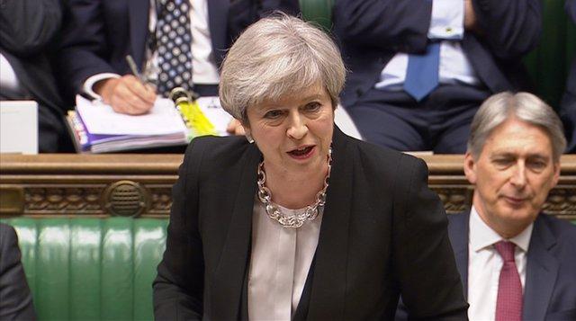 Theresa May na Cámara de los Comunes
