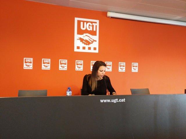 La secretària de Política Sindical de la UGT a Catalunya, Nuria Gilgado
