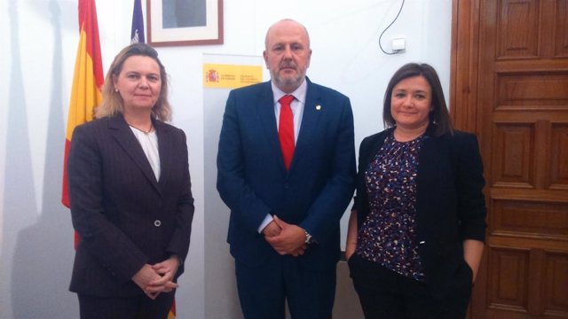 Maria Salom, Miquel Ensenyat y Mercedes Garrido