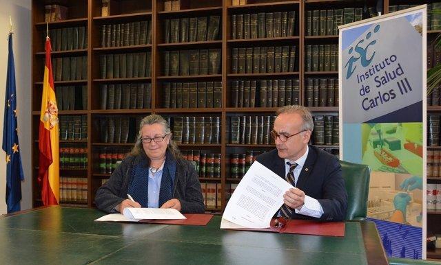 Firma Convenio ASION y el ISCIII